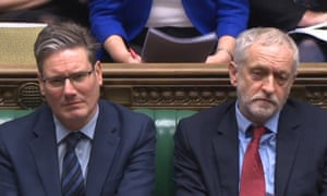 Labour leader Jeremy Corbyn and shadow Brexit secretary Sir Keir Starmer in the House of Commons