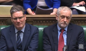 Keir Starmer and his boss, Jeremy Corbyn, are singing from the same Labour song sheet.