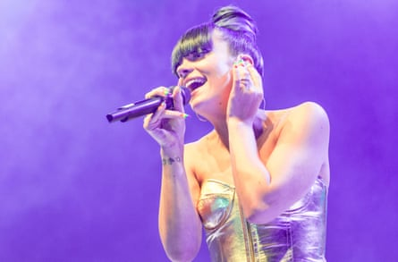 Lily Allen performs at the launch show for her new album Sheezus at 02 Shepherd's Bush Empire on April 28, 2014 in London, England.