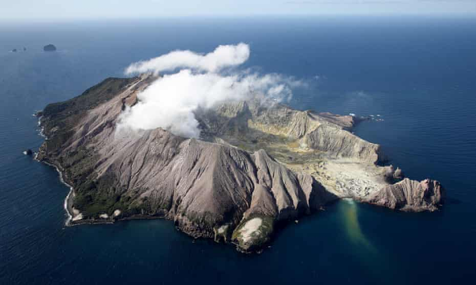 The White Island / Whakaari volcano lies just over 50km offshore.