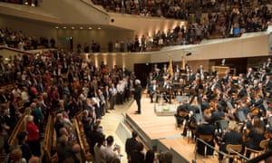 Taking his leave … Simon Rattle and the Berlin Philharmonic.