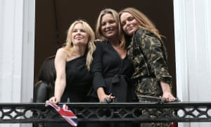 Stella McCartney, right, with Kate Moss and Kylie Minogue.