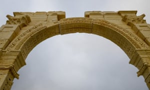 Detailed carvings on the arch.