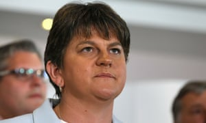 Arlene Foster at the Stormont Hotel in Belfast on 9 June after Theresa May announced that she would work with the DUP.