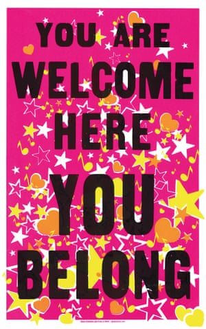 You Are Welcome, You Belong by Globe Collection and Press at Maryland Institute College of Art, from the book Posters for Change