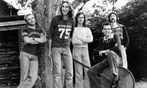 Genesis (from left, Phil Collins, Mike Rutherford, Tony Banks, Peter Gabriel and Steve Hackett) in 1972.