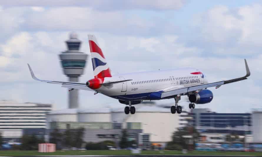 BA plane.
