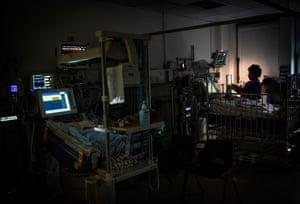 Night falls in the paediatrics department at the Brompton