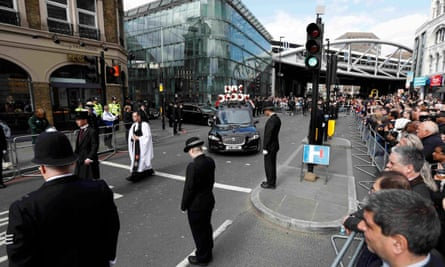 Crowds line street for PC Palmer funeral