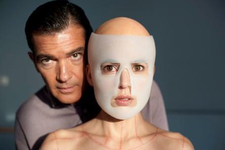 Banderas with Elena Anaya in Pedro Almodóvar's The Skin I Live In.
