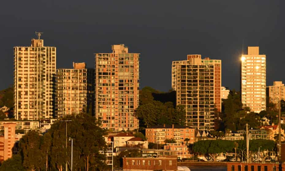 Apartments buildings in Sydney