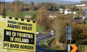 A Brexit billboard near the Letterkenny-Strabane border in Ireland.