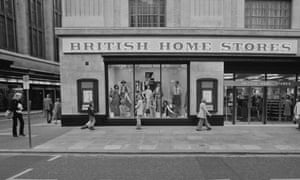 BHS on Kensington High Street, on its first day of opening in 1978