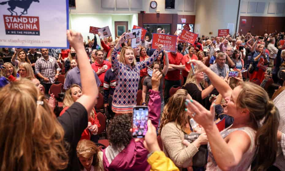 A Virginia School board meeting reflects a battle playing out across the country over a once-obscure academic doctrine known as critical race theory, in Ashburn, Virginia, on 22 June 2021.