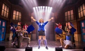 Carrie Hope Fletcher, centre, in Heathers the Musical at the Theatre Royal Haymarket, London, in 2018.