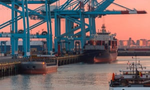 The Belgian port of Zeebrugge, one of Europe's most important modern ports, which does 45% of its trade with the UK.