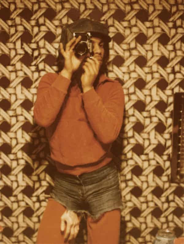 One of a series of shots Prince took in the bathroom mirror of a rented house in the Hollywood Hills, Los Angeles, 1978
