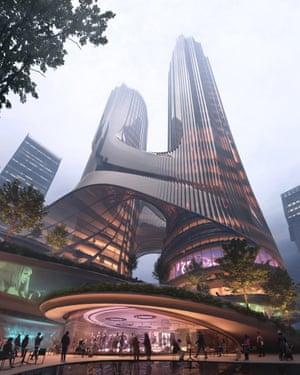 Tower C by Zaha Hadid Architects in Shenzhen.