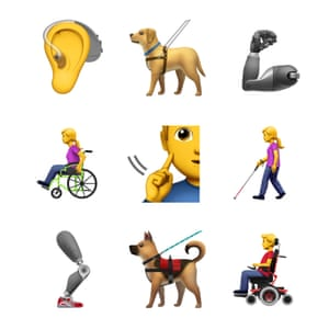 Apple's new disabled emojis.