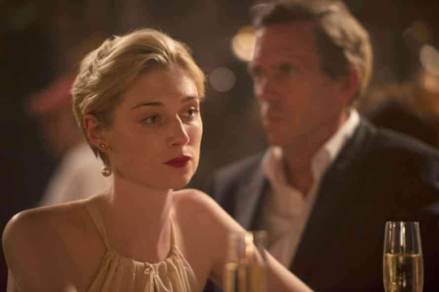 'You must care very deeply about the person you're protecting' ... Jed (Elizabeth Debicki and Roper (Laurie).