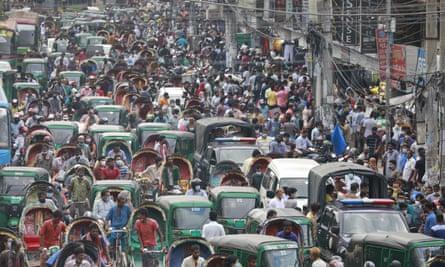 A market in Dhaka, Bangladesh.