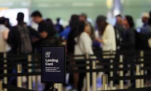 The UK border at terminal 2 of Heathrow airport