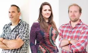 Simon Hattenstone, Erica Buist and Stuart Heritage