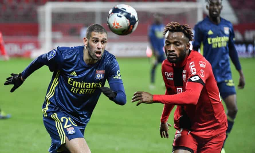 Lyon were pushed hard by Dijon, only winning 1-0.