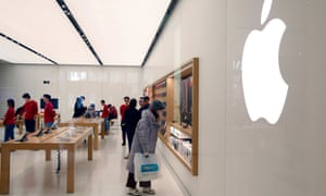 An Apple Store in Beijing, where the company's sales figures have slumped