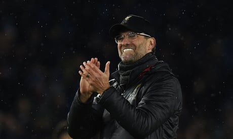 Klopp praises 'most mature' Liverpool performance after Brighton win – video