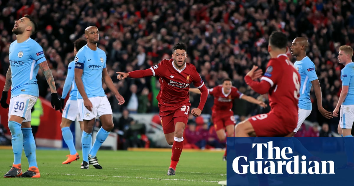 6373a208799 Liverpool s stunning first-half salvo leaves Manchester City s hopes on  rocks