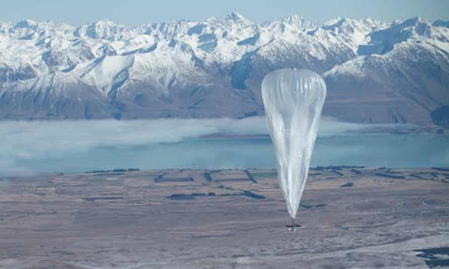 Project Loon started with a trial involving 30 balloons over New Zealand.