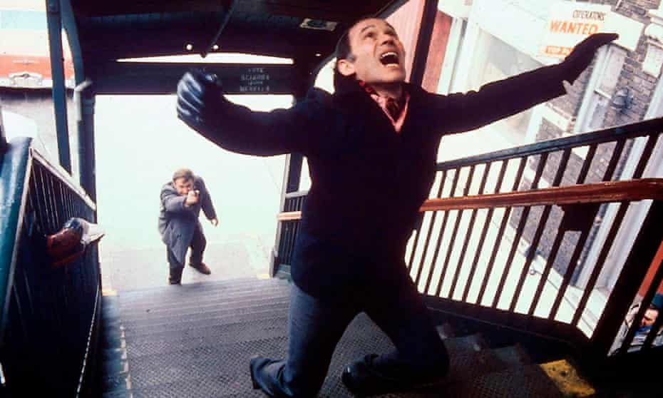 Gene Hackman and Marcel Bozzuffi in William Friedkin's The French Connection.