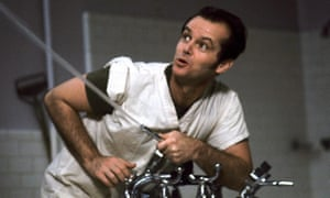 Jack Nicholson in One Flew Over the Cuckoo's nest.