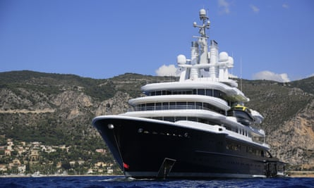 Luna, the £230m yacht bought from Roman Abramovich, on the French Riviera.