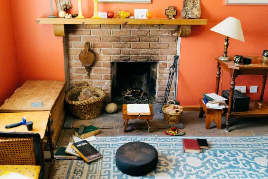 Sara Maitland's cosy living room