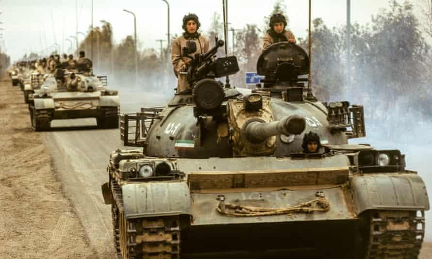 Members of the MEK near Camp Ashraf in the 90s.