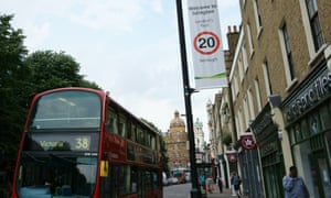 By 2020 all roads within London's congestion charging zone will be subject to a 20mph speed limit.