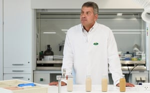 Sven Thormahlen of Danish dairy cooperative Arla, in a laboratory