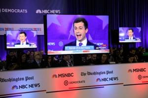 Pete Buttieg at the debate in Georgia on Wednesday night.