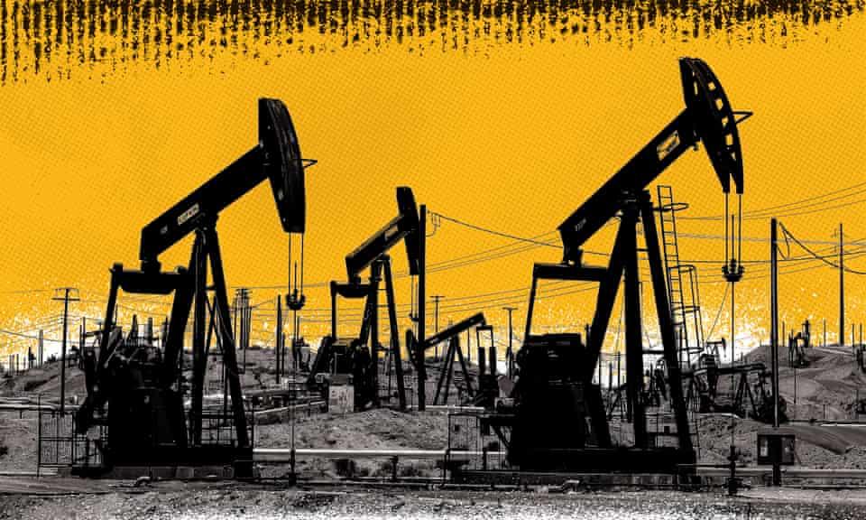 Chevron's Kern River oil field in Bakersfield, California.