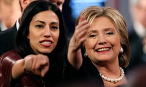 On Sunday the FBI obtained a search warrant to begin reviewing the emails, reportedly numbering 650,000 and found on the laptop of Anthony Weiner, estranged husband of top Clinton aide Huma Abedin (pictured).