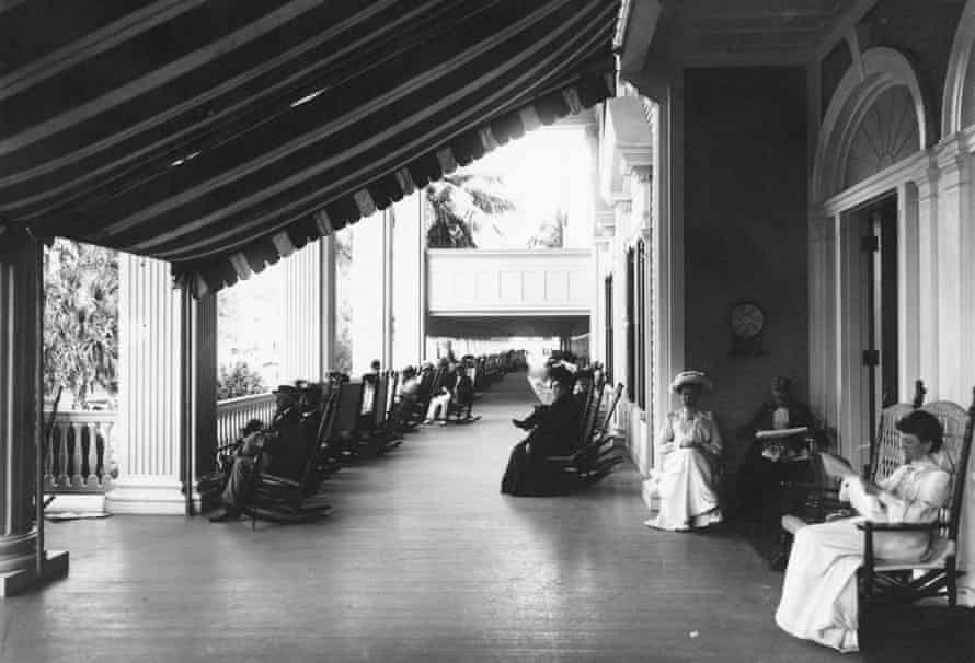 A long history of opulent leisure ... verandah of the Palm Beach Hotel. Photograph: Geo P Hall & Son/The New York Historical Society/Getty Images