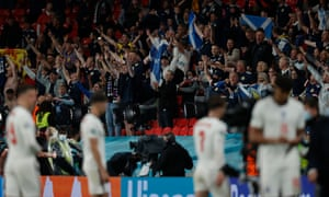 Scotrland fans celebrate their point.