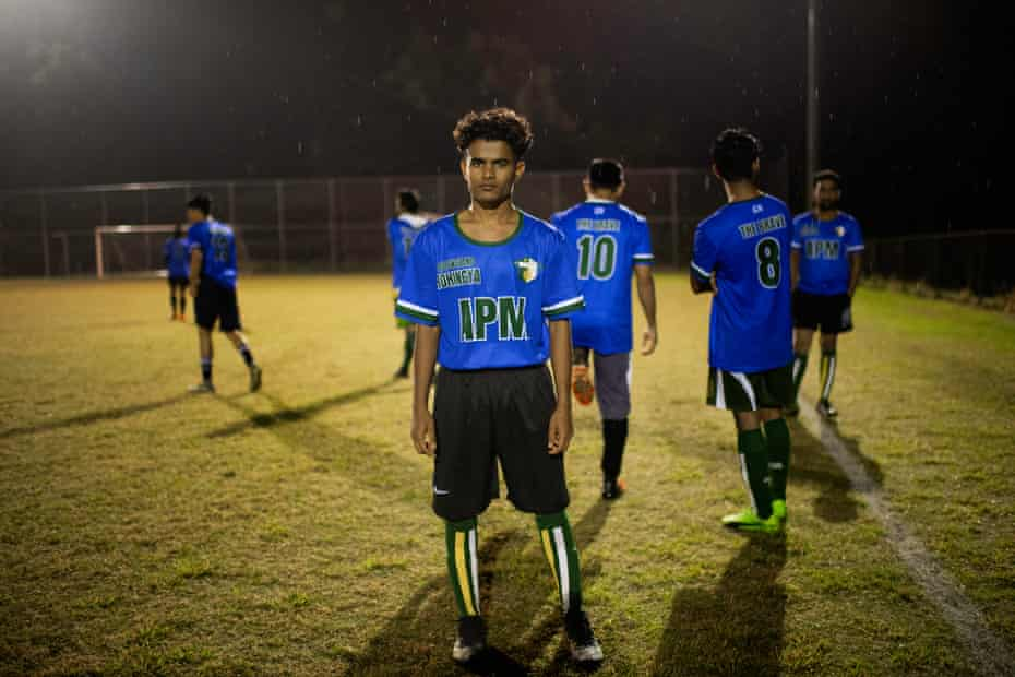 Rafique Mohammed, a former refugee and the manager of QR The Brave Football Club