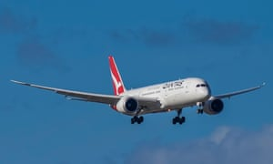 A Qantas repatriation flight from India on final approach into Adelaide Airport, Friday, 4 June 4.