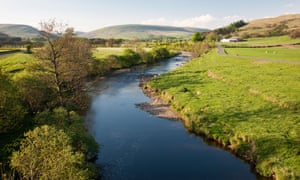 View along the river Hodder, Forest of Bowland, Lancashire
