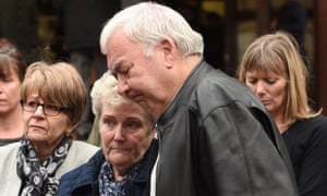 Nicola Payne's parents, John and Marilyn, outside Birmingham crown court