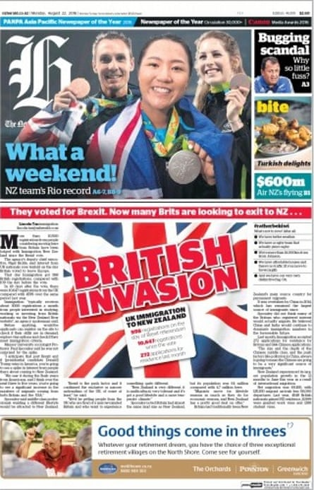 The New Zealand Herald's front page