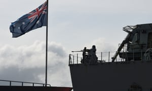 Navy pilots from HMAS Canberra had lasers pointed at them from passing fishing vessels during the Indo-Pacific Endeavour 2019 exercise